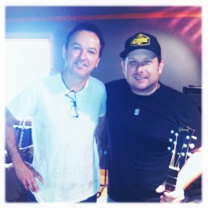 Me and Danick Dupelle from Emerson Drive. Patricia Conroy behind camera.